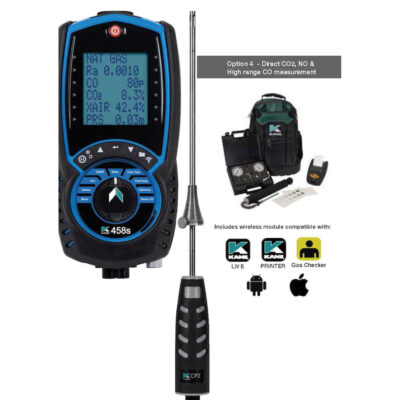 KANE458S - LIGHT COMMERICAL OPTION 4– Direct NO, CO2 & HIGH RANGE CO Measurement